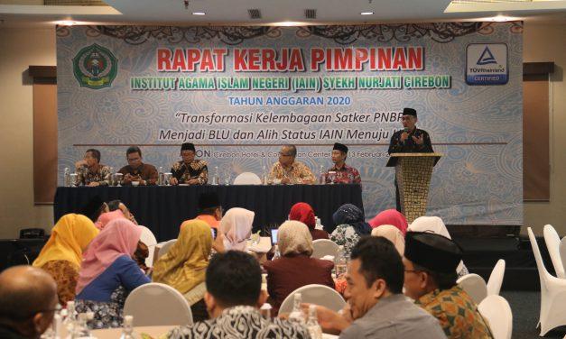 Rakerpim IAIN Cirebon, Transformasi Satker PNBP menuju BLU dan IAIN menuju UIN