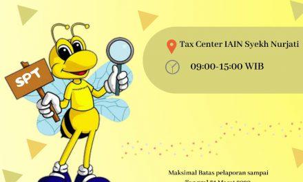Ayo ! Lapor SPT Anda Lewat Tax Center IAIN Syekh Nurjati Cirebon.