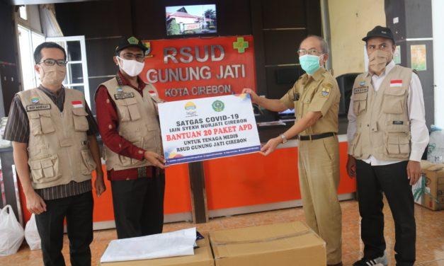 Satgas COVID-19 IAIN Syekh Nurjati Cirebon Salurkan Bantuan APD ke RSUD Gunung jati